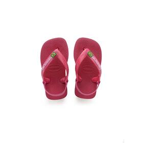 havaianas Brasil Logo II Lapset sandaalit , vaaleanpunainen